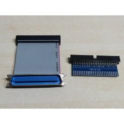 Adaptador edge a IDC + cable plano con IDC a puerto Centronics.Amstrad CPC +