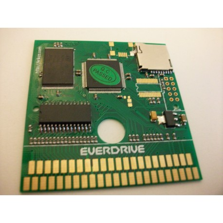 EVERDRIVE FLASH CART  game gear PCB +  casing
